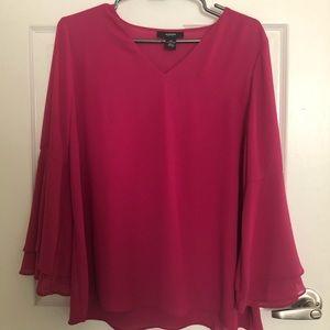 ALFANI Bell-Sleeved Blouse Size 12P  (NEW)